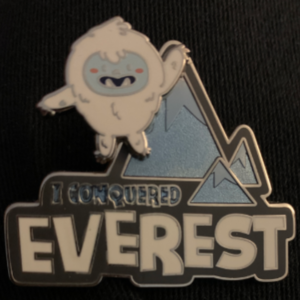 I conquered Everest pin