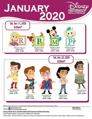 Disney Studio Store Hollywood January 2020 pin releases