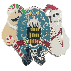 Jack and Oogie Boogie wreath Haunted Mansion Holiday 2020 pin