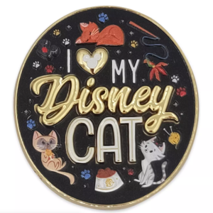 Disney Cats pin set - I heart my Disney Cat pin