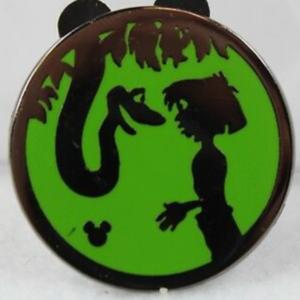 Kaa and Mowgli - Hidden Mickey Silhouette  pin