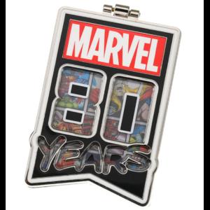 Marvel 80 years hinged  pin