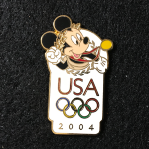 USA 2004 Olympic logo Mickey  pin