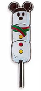 Marshmallow Snowman pin
