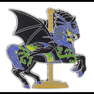 Maleficent Carousel Horse pin