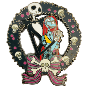 Jack and Sally wreath  pin