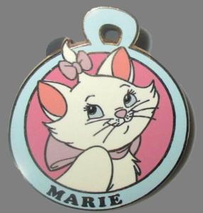 Marie Pet Tag pin