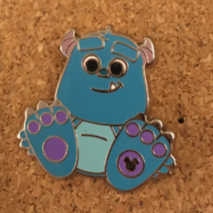 Sulley - Hidden Mickey Big Feet pin