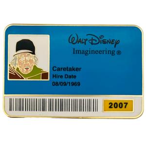 Caretaker - Haunted Mansion - ID Badge Series 2007 pin