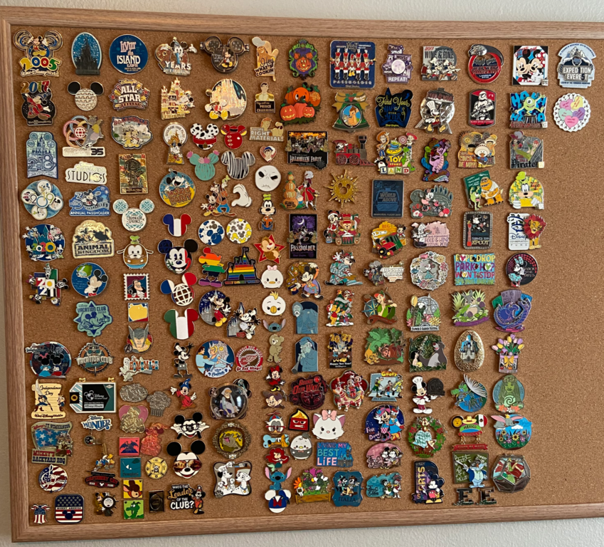 Some of Joe's pin collection