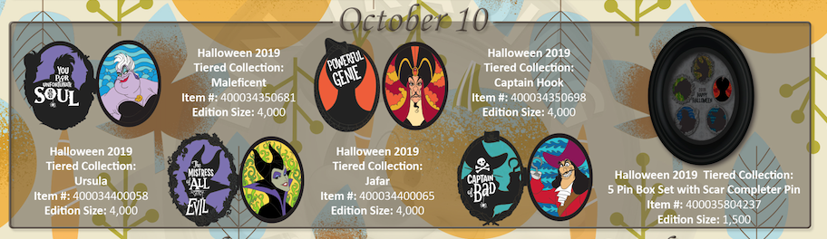 October 10th pin releases