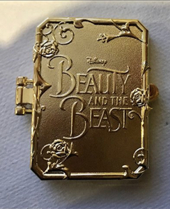 Beauty and Beast Live Action Hinged Book pin