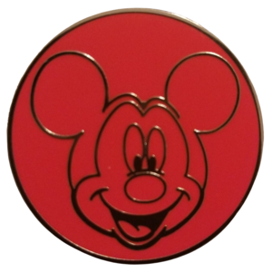 Mickey Red Face Portrait pin