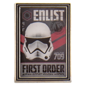 Enlist First Order - First Order Propaganda Poster Mystery Pin Set – Star Wars: Galaxy's Edge pin