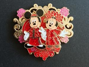 HKDL Chinese Wedding - Mickey and Minnie pin