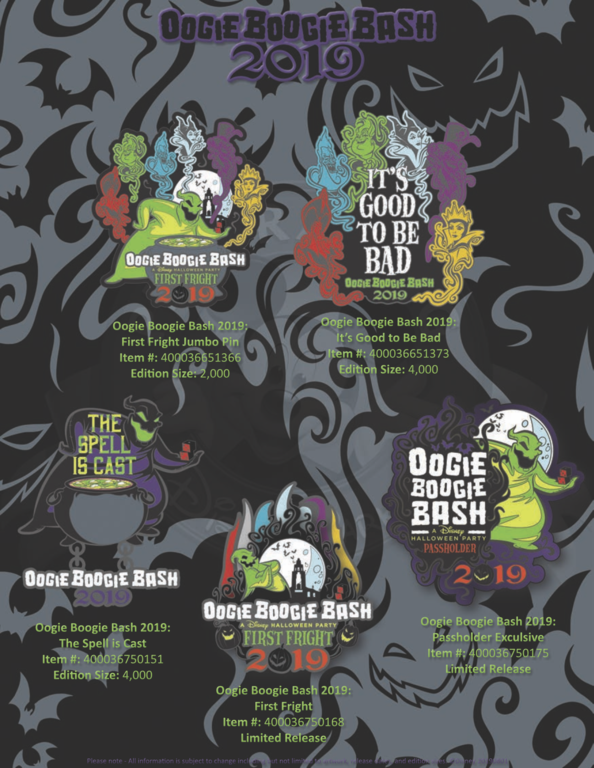 Oogie Boogie bash pin release flyer 2019