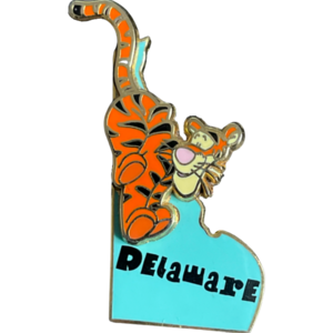 Delaware - State Characters pin