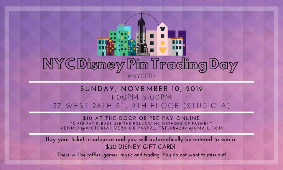 NYC Disney Pin Trading Day