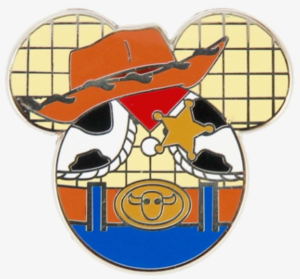 Woody - Mickey Silhouette pin