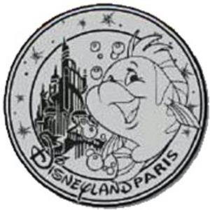 Flounder - Medallion pin
