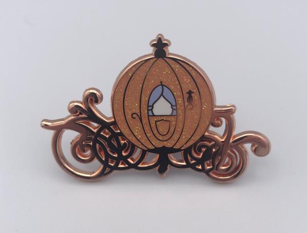 Rose Gold Cinderella Carriage pin