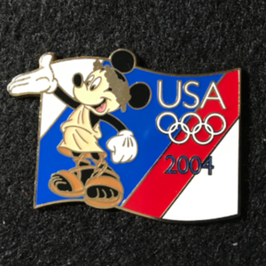 USA 2004 Olympic lanyard starter Mickey  pin