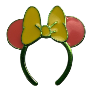 Boxlunch Yellow, Green, and Pink Minnie Ears  pin