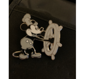 Steamboat willie holding wheel pin