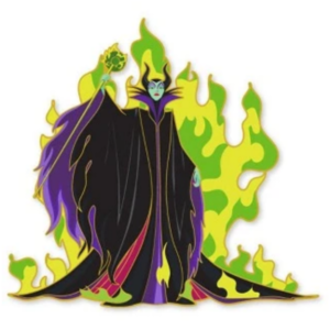 Artland - Maleficent - The Villains Cut Out Series pin