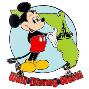 Mickey Mouse Map of Florida – Walt Disney World 50th Anniversary pin