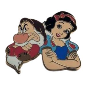 Snow White and Grumpy Cutout Artland pin