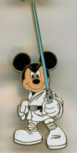 Mickey as Luke - Star Wars Booster Pack pin