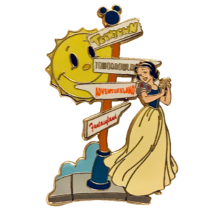 Mickey's Toontown Pin Trading (Event) - Snow White at Street Sign pin