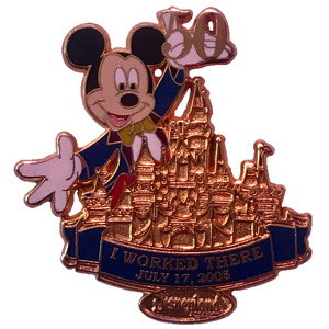 DLR - Cast Member Exclusive - Disneyland 50th Anniversary - Mickey: I Worked There pin