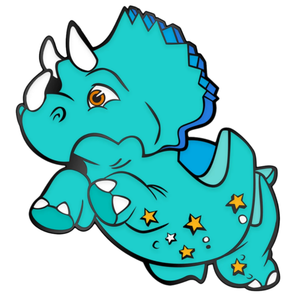 Triceratops - D23-Exclusive Walt Disney World 50th Anniversary Pin Set – ''The Vacation Kingdom of the World'' pin