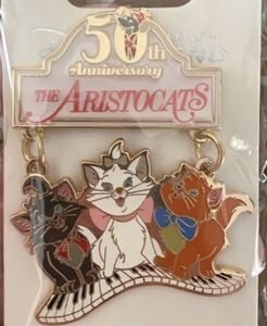 Aristokittens on piano keys - Aristocats 50th Anniversary pin