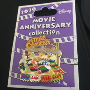 The Three Caballeros 75th anniversary  pin