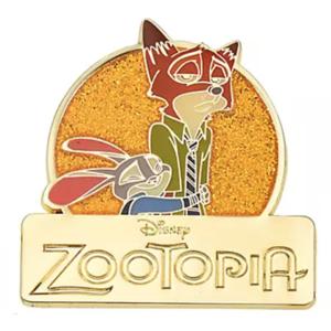 Zootopia logo - Judy Hopps & Nick Wilde Pin Badge Set 5th Anniversary pin