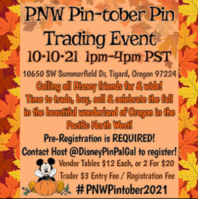 PNW Pin-tober Pin Trading Event