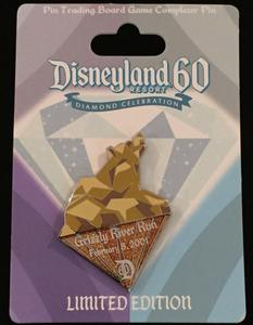DLR - Diamond Celebration Event - 60th - Pin Trading Board Game Grizzly River Run pin