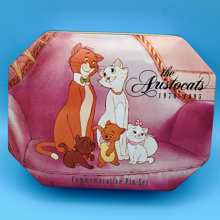 Aristocats 25th anniversary pin set tin