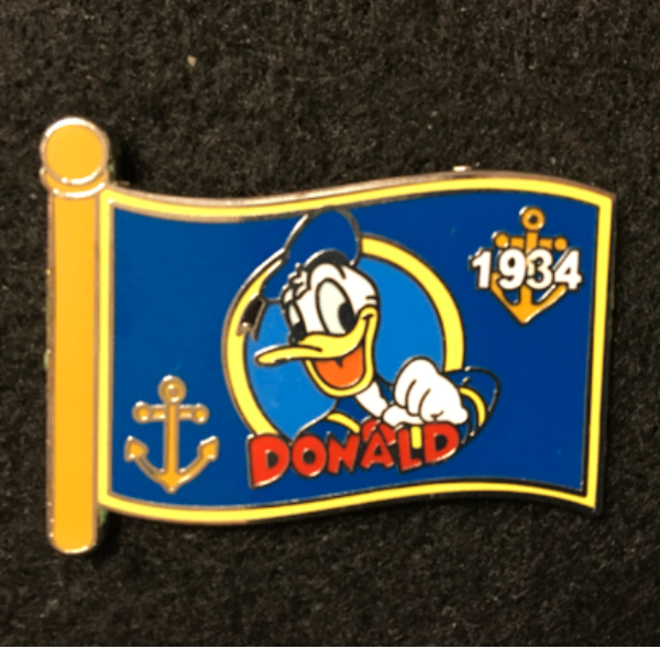 WDW Character Flag Mystery Donald  pin
