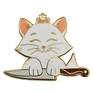 Marie with knife - Castle Creations and Co pin