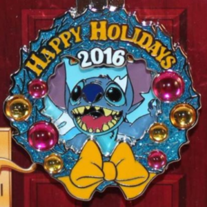 Paradise Pier Hotel - Holiday Wreaths Resort Collection pin