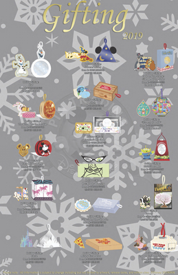 Disneyland Gifting pin releases 2019