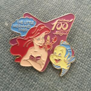Ariel & Flounder 100 years of Magic pin