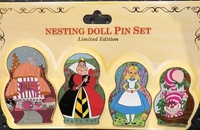 Alice in wonderland nesting dolls