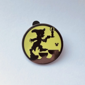Dopey - Hidden Mickey Silhouette  pin