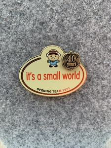 It's A Small World - Name Tag pin