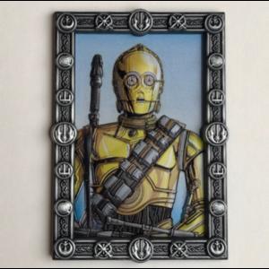 C-3PO 3D Portrait pin